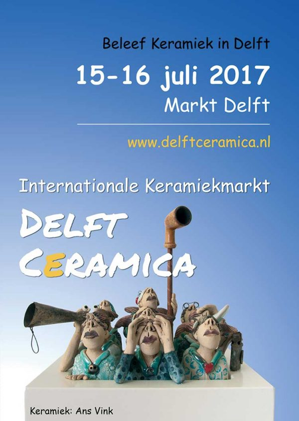 Poster Internationale Keramiekmarkt Delft Ceramica