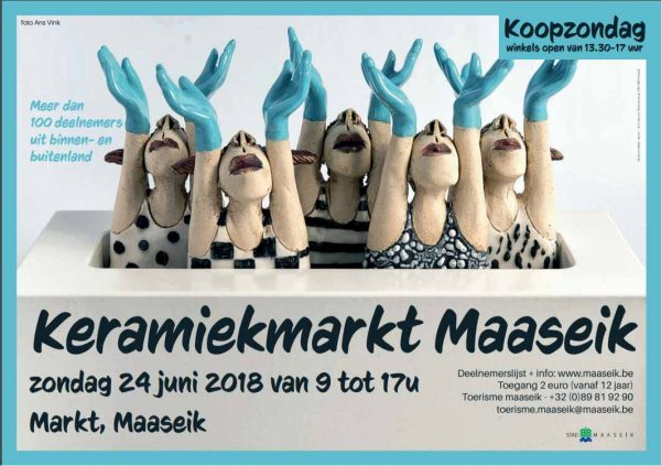 "'A brand New Day"" op de poster van de Internationale Keramiekmarkt Maaseik (BE)"
