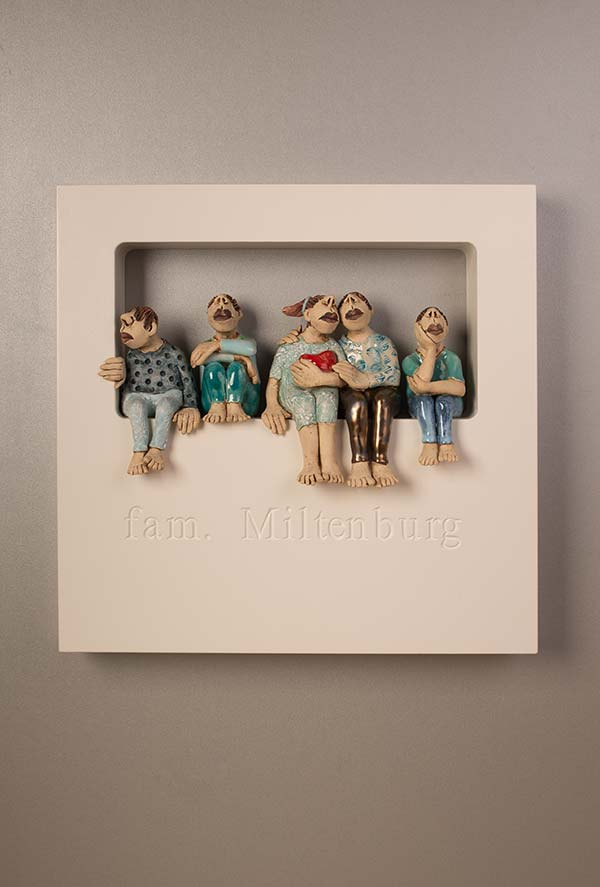 Out of the Box-Wall-Piece – My Family -40x40cm